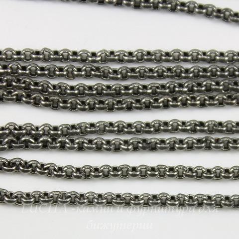 Винтажная цепь (звено 2 мм) (оксид серебра), 10 cм ()