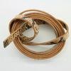 "Шнур (искусств. кожа), 10х2 мм, ""Змея"", цвет - коричневый, 1,1-1,2 м"