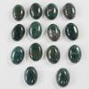 Кабошон овальный Агат Моховой темно-зеленый 18х13 мм №3