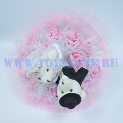 Букет свадебный — Розовый
