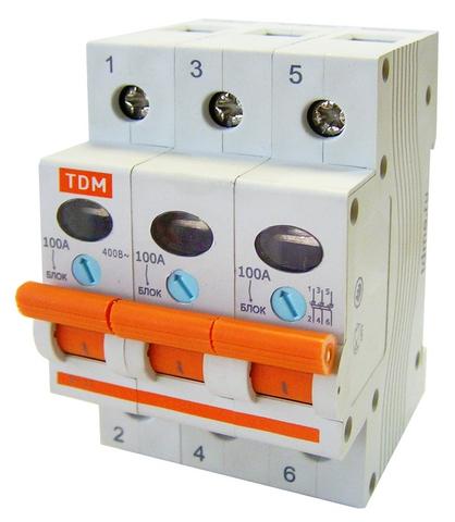 Выключатель нагрузки (мини-рубильник) ВН-32 3P 125A TDM