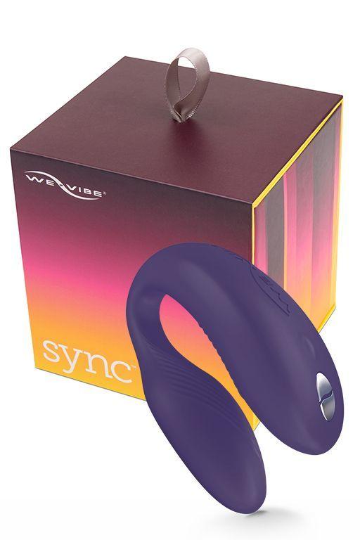 Для двоих: Фиолетовый вибромассажер для пар We-Vibe Sync Purple на радиоуправлении