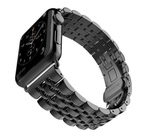 Металлический ремешок Metall Band 42мм\ 44мм для Apple Watch (Черный)