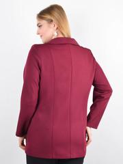 Дольче. Пиджак для офиса plus size. Бордо.