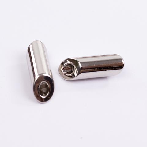 Комплект метал. наконечников для тканевой утяжки N7 (серебро)