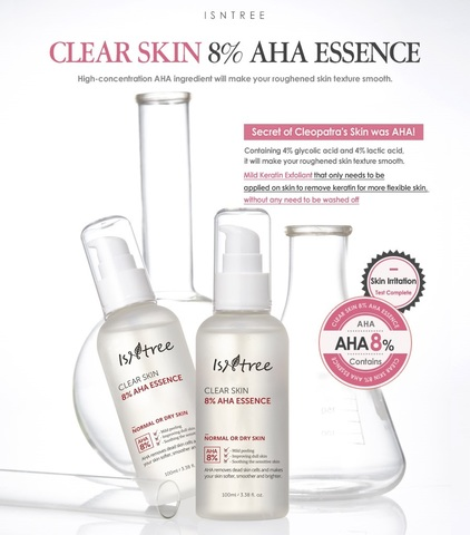 Эссенция с 8% АНА, 100 мл / Isntree Clear Skin 8% AHA Essence