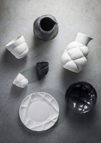 Фарфоровый салатник 17 см, черный, артикул 650737, серия Succession