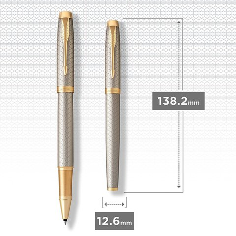 Ручка роллер Parker IM Premium Warm Silver (grey) GT123
