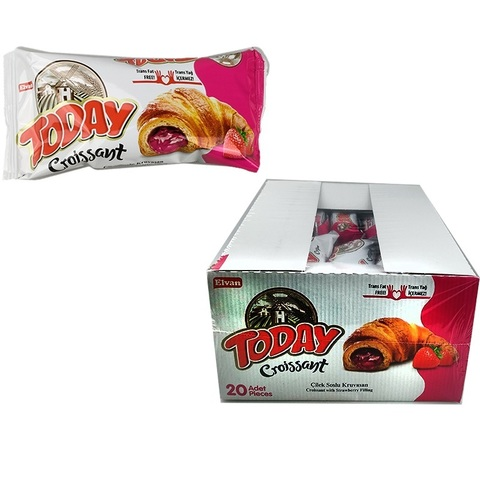 Today Croissant with strawberry 45 GR (20х4) Круассан с клубничным соусом 1кор*4бл 20шт,45гр