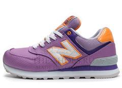 Кроссовки Женские New Balance 574 Lilac Orange White