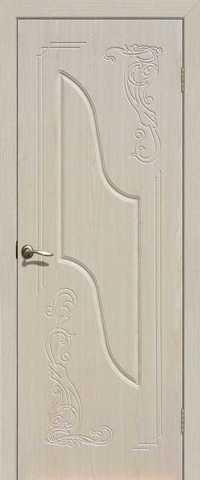 Дверь Сибирь Профиль Равена, цвет беленый дуб, глухая