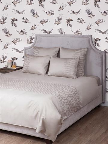 Постельное белье 1.5 спальное Bovi Kioto серо-бежевое