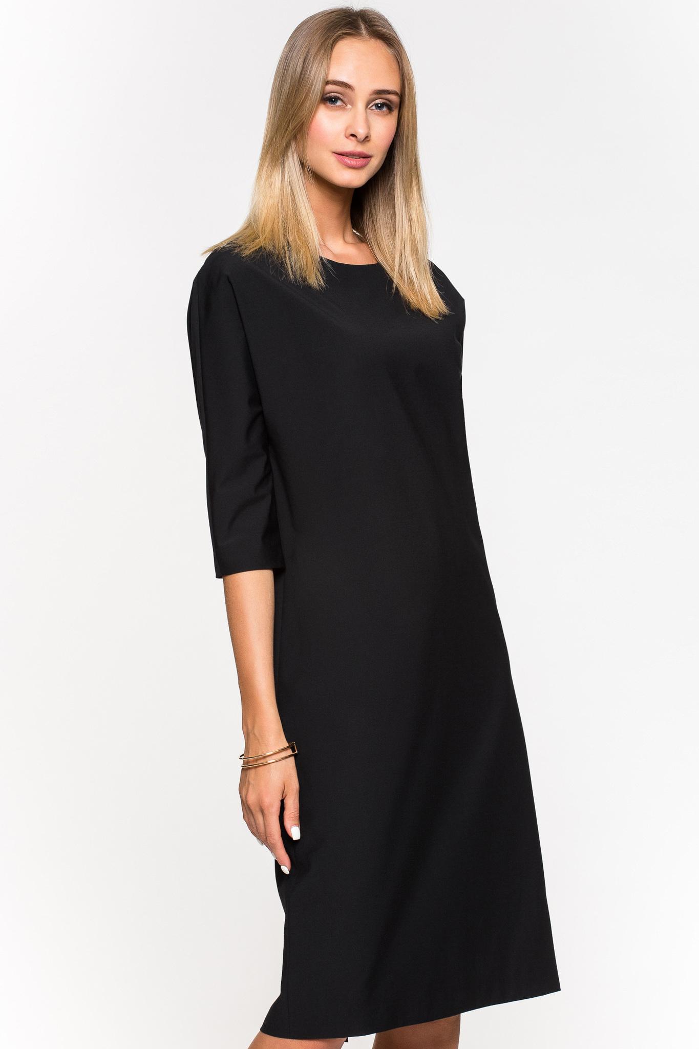 Платье прямого кроя из шерсти