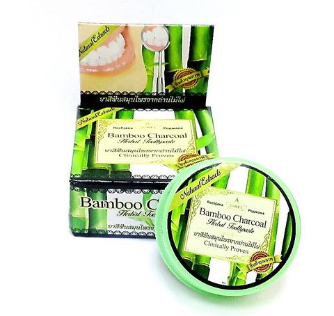 Растительная зубная паста с бамбуковым углем Роджана/Rothjana