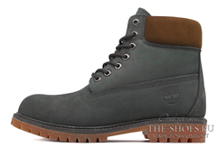 Ботинки Мужские Timberland 17061 Waterproof Grey Brown с Мехом