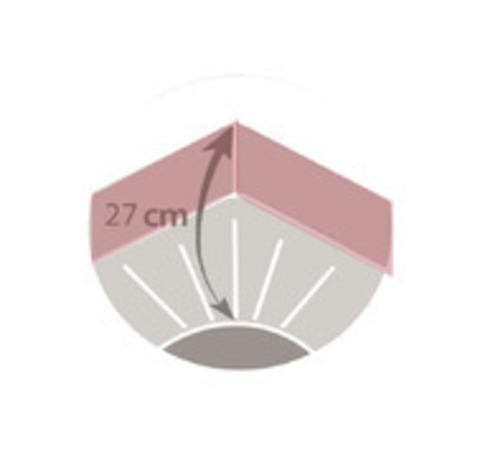 Наматрасник на резинке Blanc des Vosges 200х200