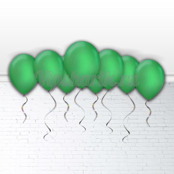 Шарики под потолок Зеленые (металлик) 30 см.