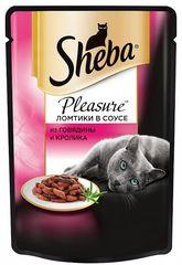 """Корм для кошек Sheba pleasure """"Из говядины и кролика"""" 85г"""