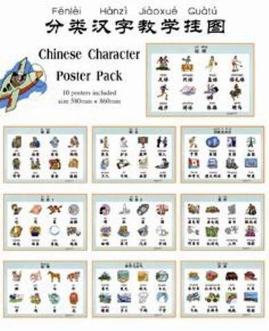 Chinese Character Poster Pack(10 packs)