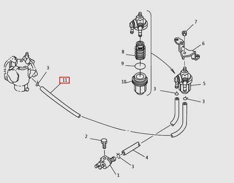 Шланг L235 для лодочного мотора T9.8 Sea-PRO (6-11)