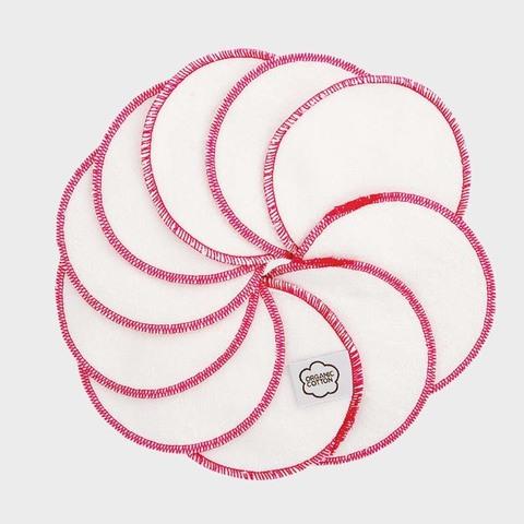Очищающие диски для лица, орг.хлопок, 10 шт., Pink Trim