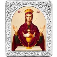 Неупиваемая чаша. Маленькая икона Божьей Матери в серебряной раме.