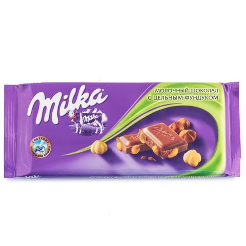 """Шоколад """"Milka"""" молочный с цельным миндалем, 90 г"""