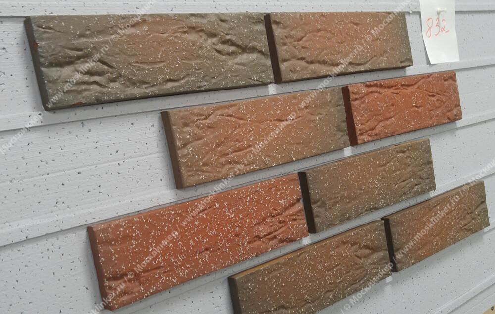 Плитка-клинкер под кирпич Roben, Vogtland, цвет пестрый (bunt),
