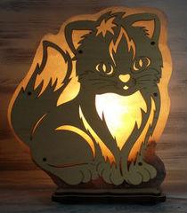 Солевая лампа Котик 2-3 кг