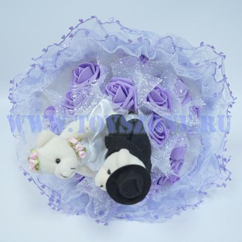 Букет свадебный — Фиолетовый