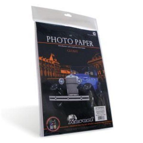 Фотобумага, глянцевая самоклеющаяся, A4, 128г/м2, 25 л.