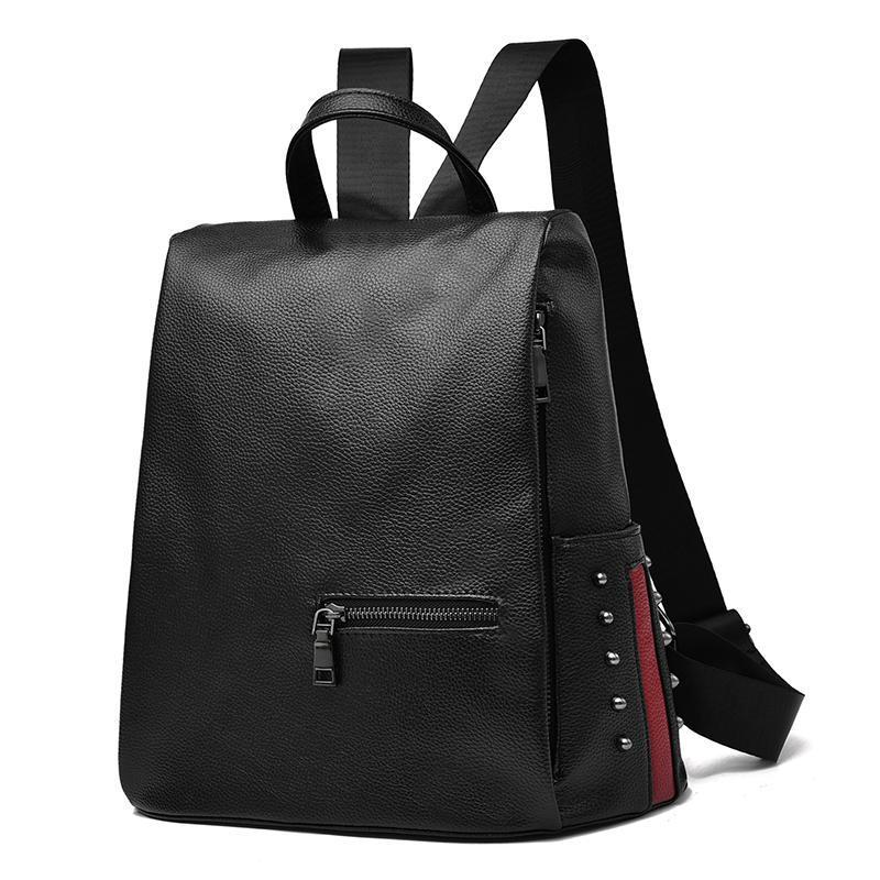 Женский средний рюкзак 30х30х14 см чёрный 3378-1