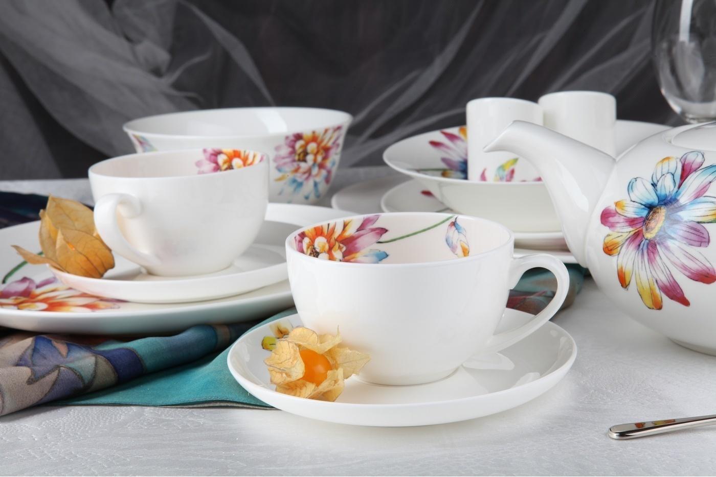 """Чайный сервиз Royal Aurel """"Каприз"""" арт.132, 13 предметов"""