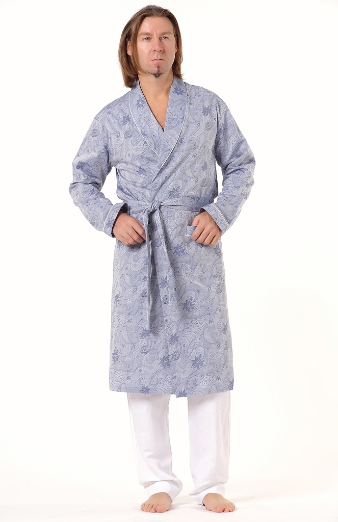 Мужской халат с рисунком Zimmerli (Мужские халаты)