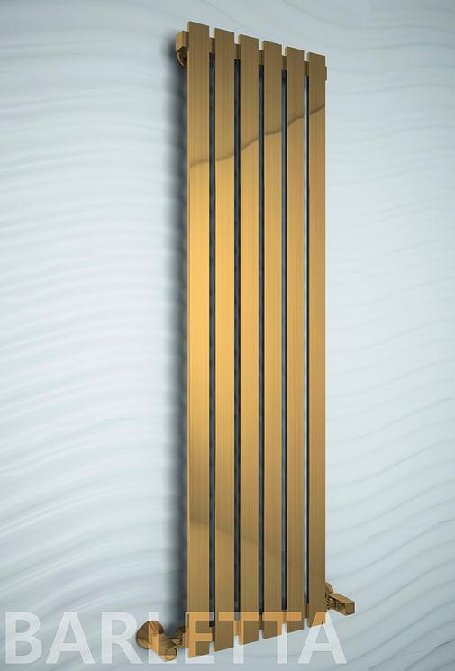 Barletta E -  бронзовый электрический дизайн полотенцесушитель  с прямоугольными вертикалями .