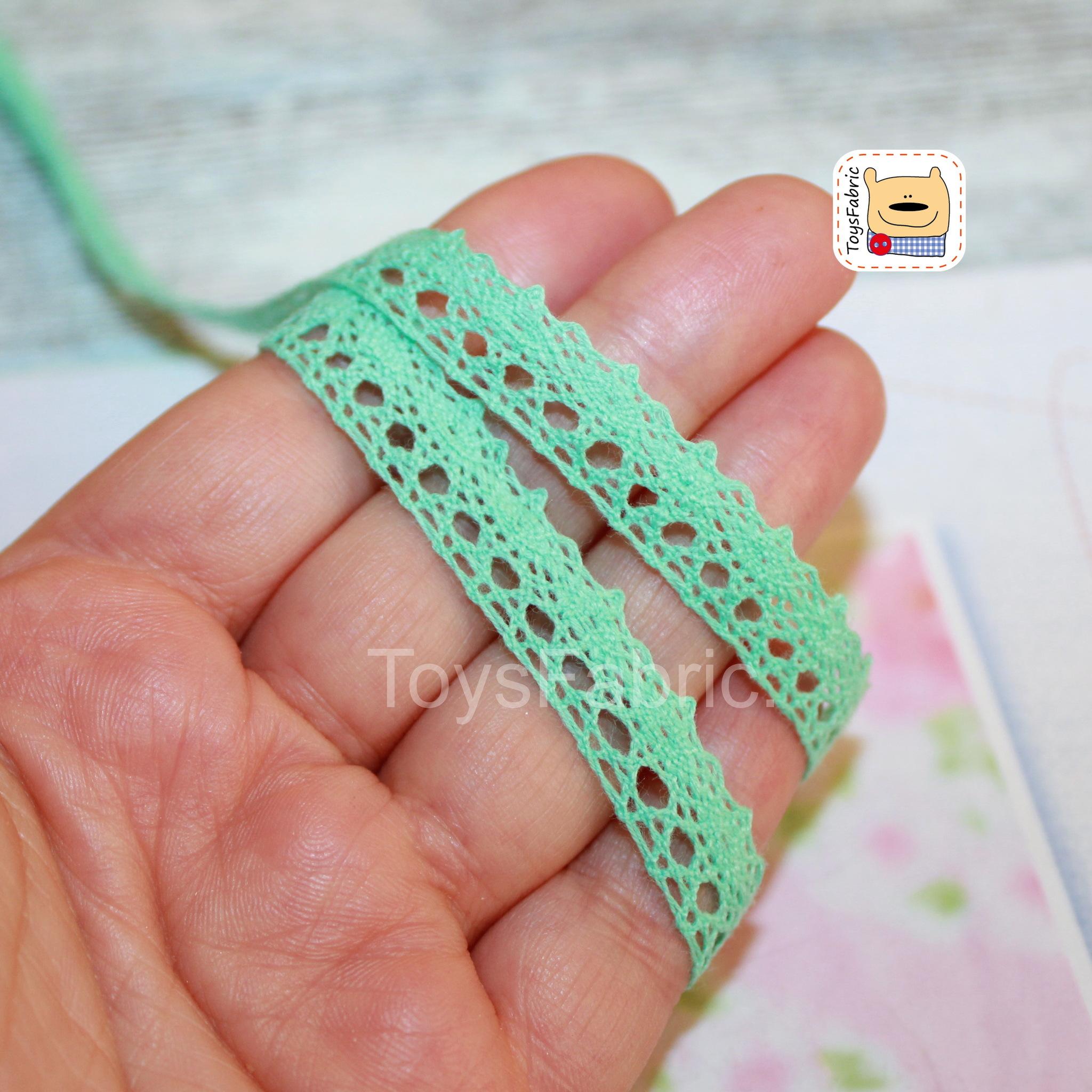 Кружево вязаное СК03-М (мятное) 90см