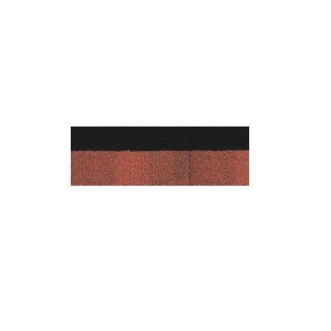 Коньково-карнизная черепица Docke PIE Simple Красный 1х0,333м 1шт