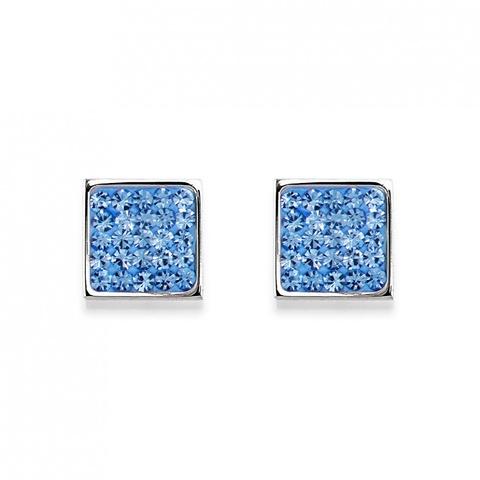 Серьги Coeur de Lion 0117/21-0720 цвет голубой, серебряный