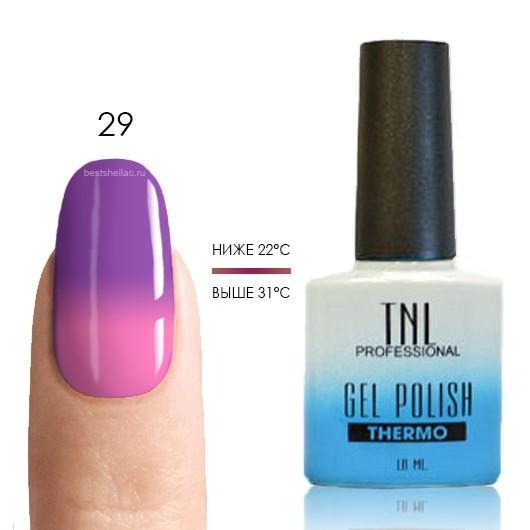 Термо TNL, Термо гель-лак № 29 - фиолетовый/ярко-розовый, 10 мл 29.jpg