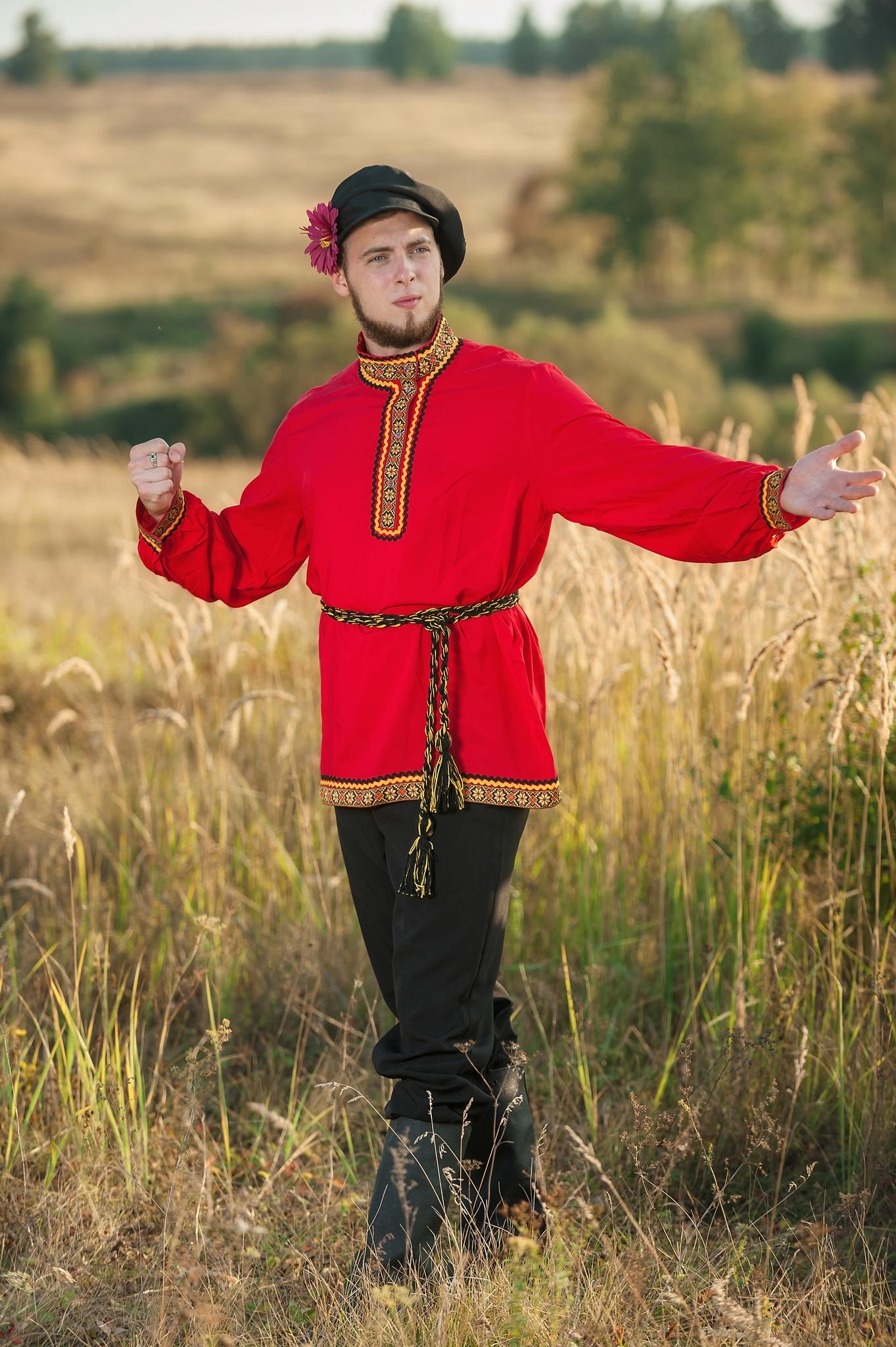 Костюм русский мужской Щедрый для танцев