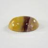 Кабошон овальный Яшма Мукаит желтый с карамельным, 18х13 мм №4