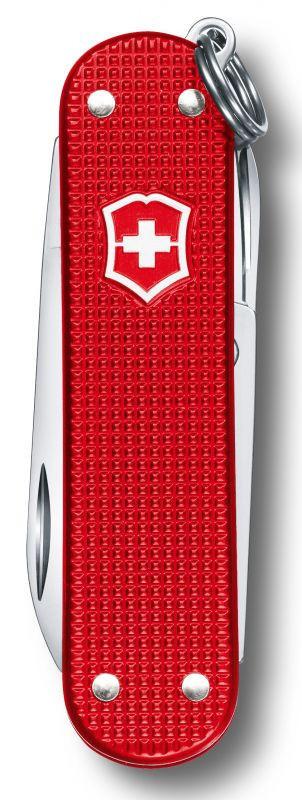 Нож-брелок Victorinox Alox Classic LE, 58 мм, 5 функций, красный