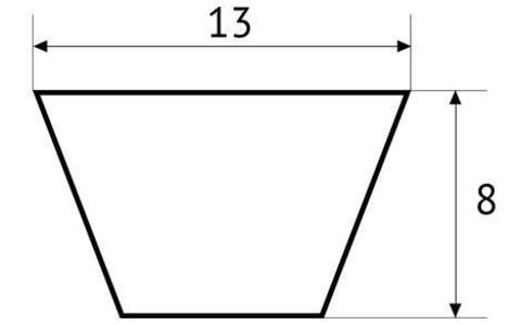 Ремень клиновой полиуретановый UNITED PARTS тип А (13мм) не армированный (прозрачный) 1 метр