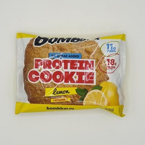 Печенье протеиновое вкус Лимон BOMBBAR, 60 гр