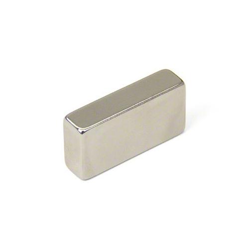 Магнит 48х20х6 мм, N40H, никель, неодимовый блок