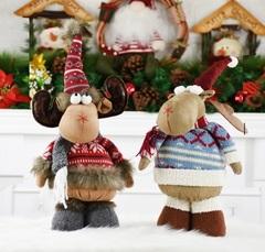 Новогодняя игрушка Лось в свитере