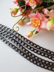 Цепь звено 9*13 мм , длина 120 см, цвет темный никель