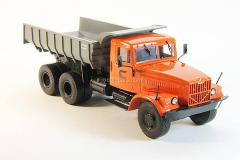 KRAZ-256B1 dump truck orange-gray 1:43 DeAgostini Auto Legends USSR Trucks #1