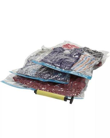 Набор вакуумных пакетов для хранения с насосом Спэйс мастер освобод...