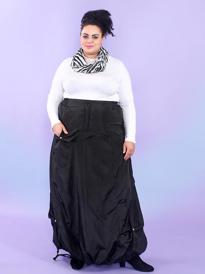 Длинная юбка из плащёвки на флисе